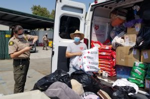 OBOL's Brad Smulson delivering 4k lbs of supplies to help animal shelters in Northern California affected by the wildfires